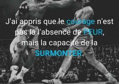 muhammad ali, joe frazier, mohamed ali, citation, peur, motivation, courage
