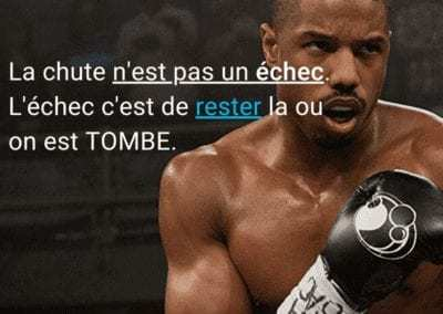 citation, rocky, creed, echec, motivation