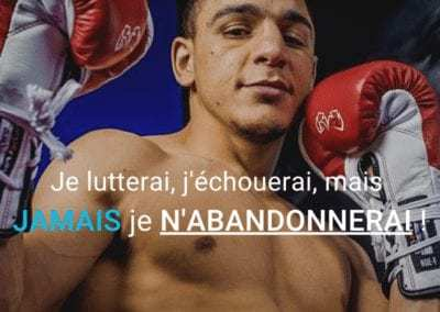 nordine oubaali, citation, abandon, motivation, echec
