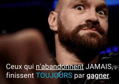 abandon, tyson fury, gagner, motivation, reussite, citation