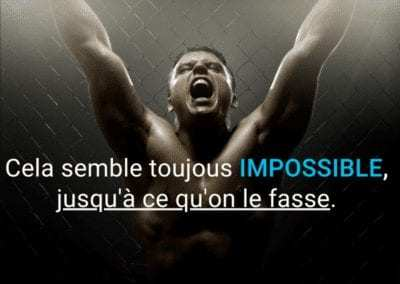 impossible, citation, possible, motivation, nelson mendela, boxe, inspiration