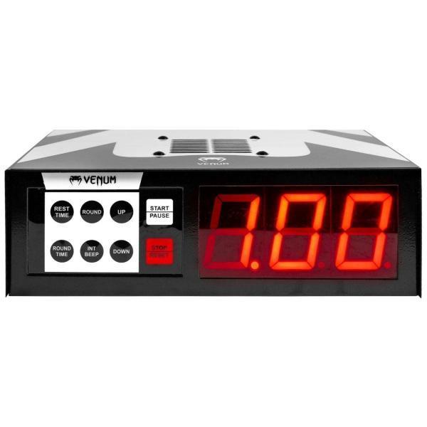 temps, boxe, boxeur, timer, round, blanc, timer, venum