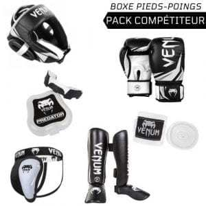 venum, boxe, pack, equipement, protection, pas cher, competition, kick, boxing