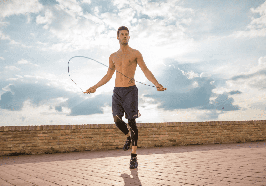 homme, boxe, corde a sauter, jumping rope, endurance